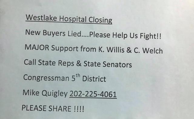 Westlake Hospital Closing